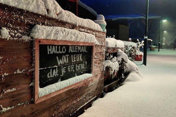 """Vorstinval met """"veel sneeuw"""""""